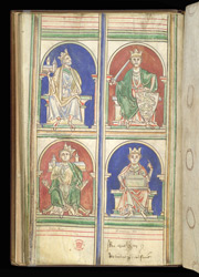 Richard I And Other English Kings, In Matthew Paris's 'Epitome Of Chronicles'